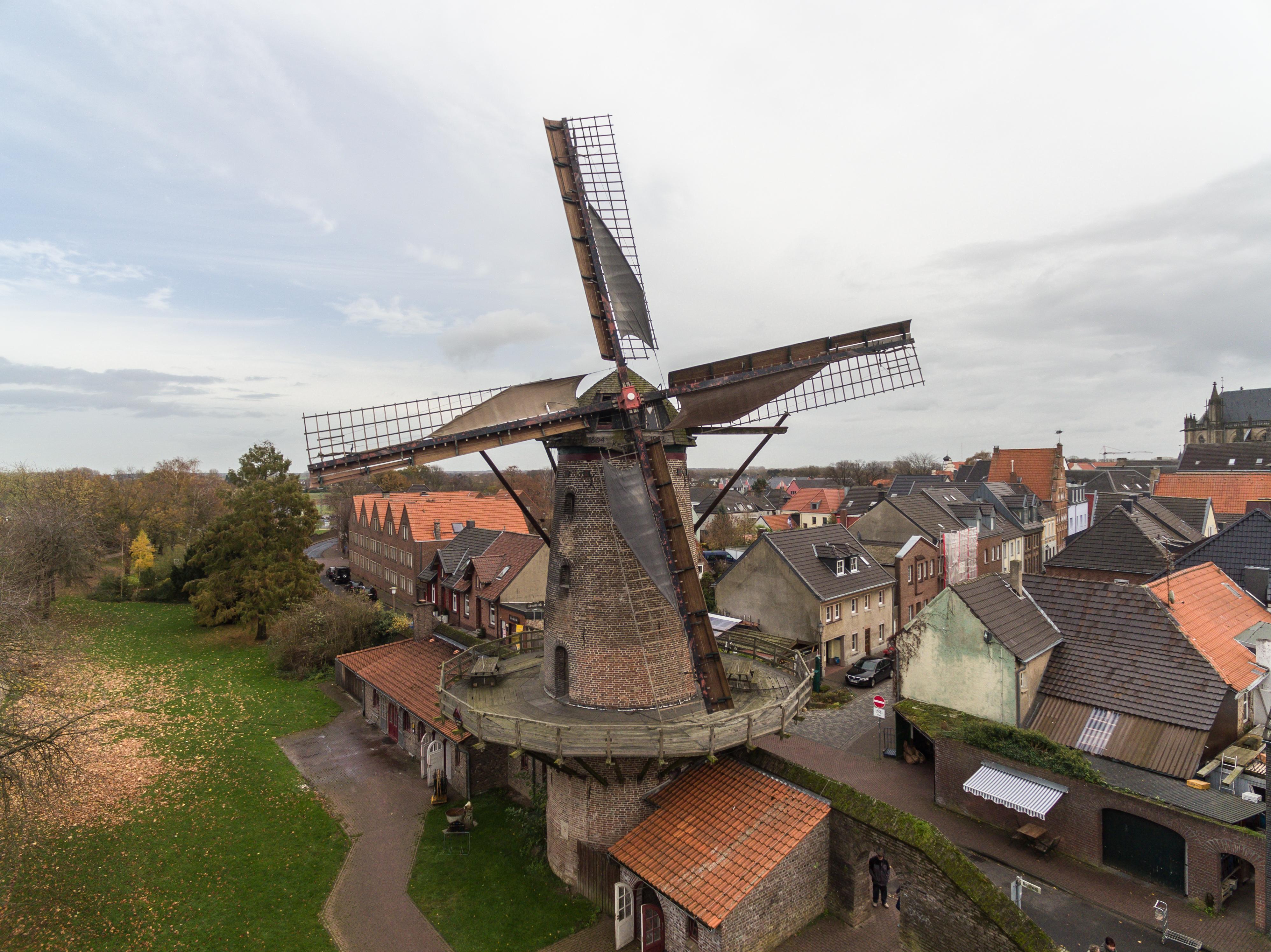 Luftaufnahme Kriemhildmühle in Xanten